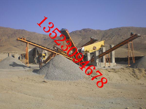 碎石生产线现场