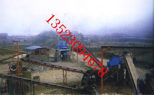 云南红河鹅卵石制砂生产线现场